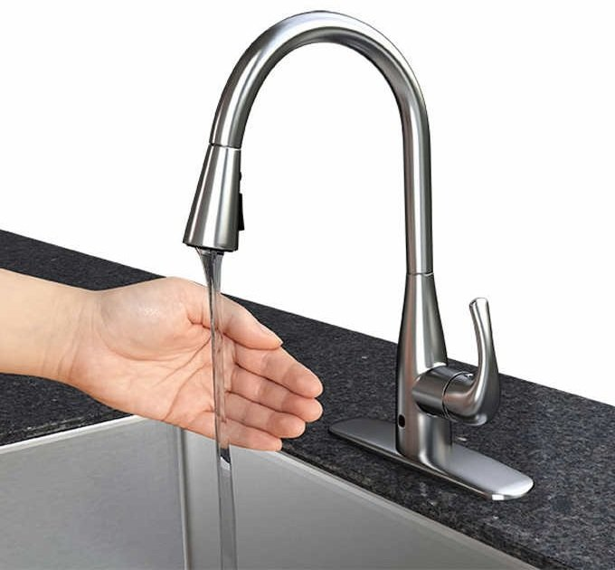 motion detection kitchen faucet image