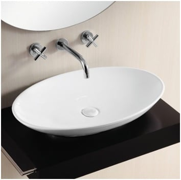 Oval shape basin image