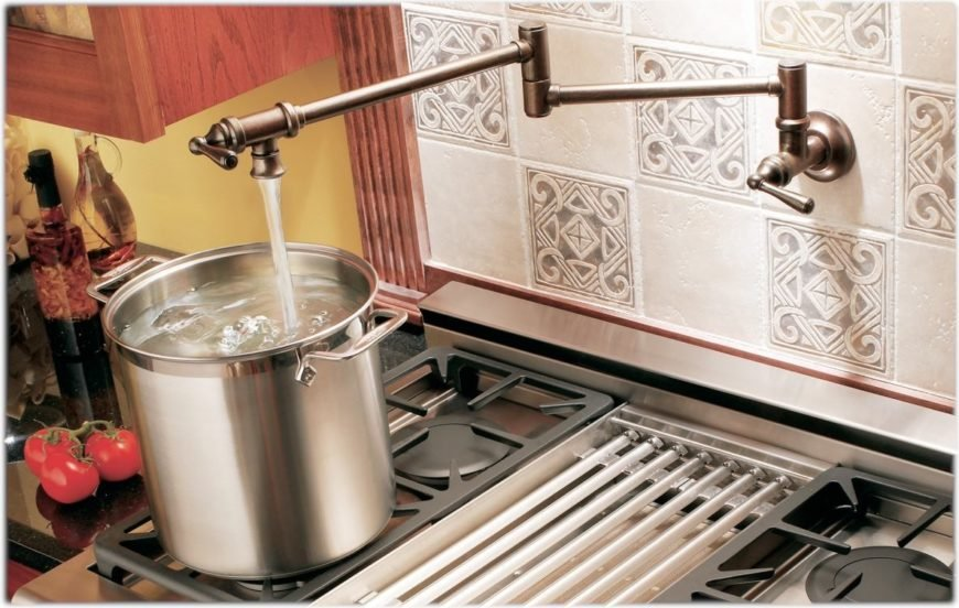 pot filler kitchen faucet image