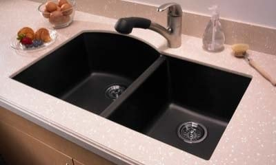 quartz kitchen sink image