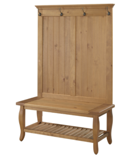 Rustic hall tree with storage bench