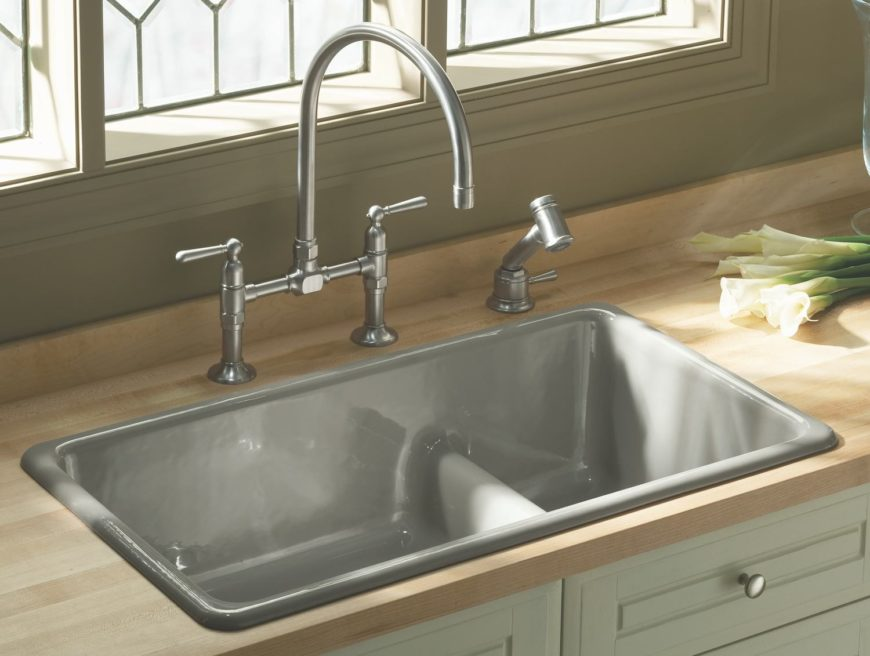 self rimming kitchen sink image