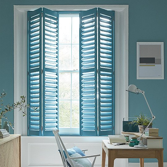 Louvered full-height shutters