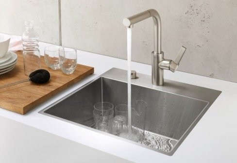 single bowl kitchen sink image
