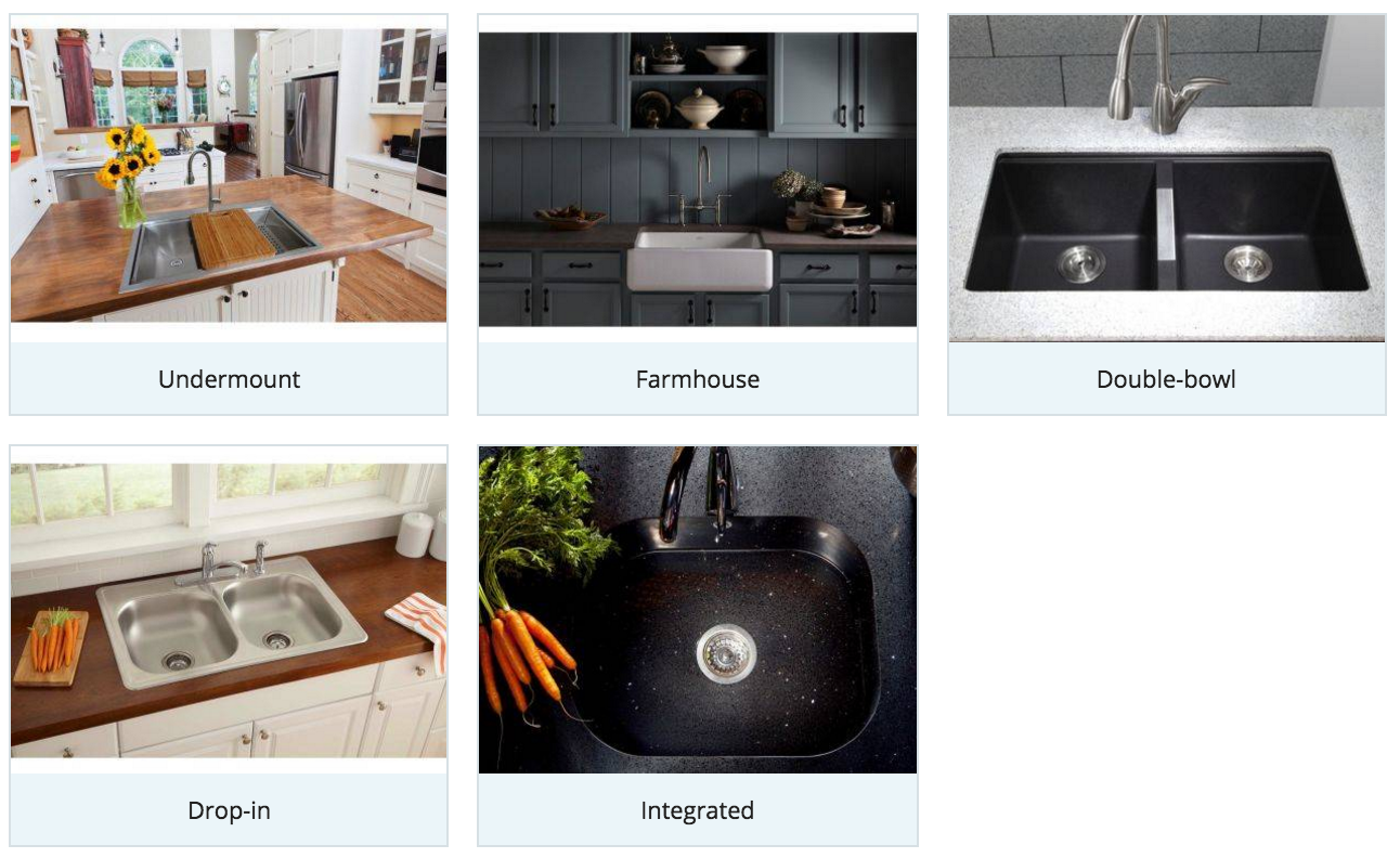Some types of kitchen sinks you can choose for your for Types of kitchen styles