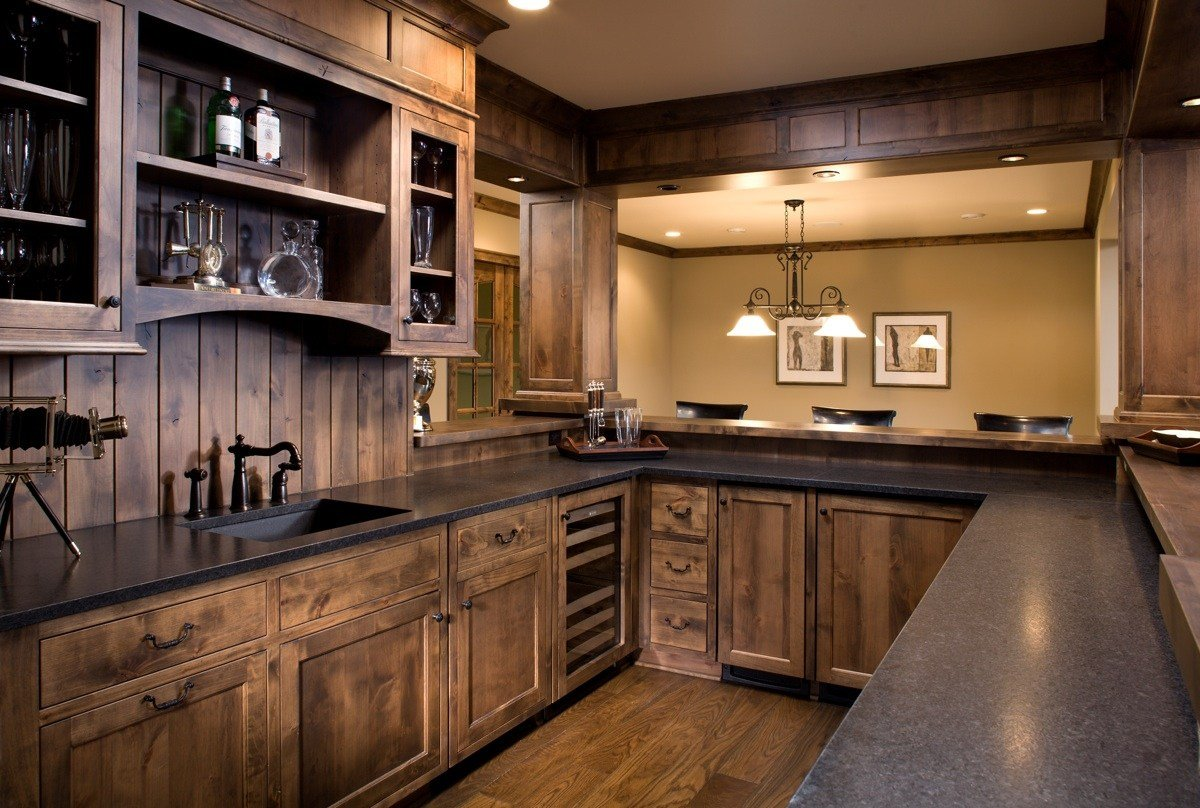 Wood Kitchen Backsplash