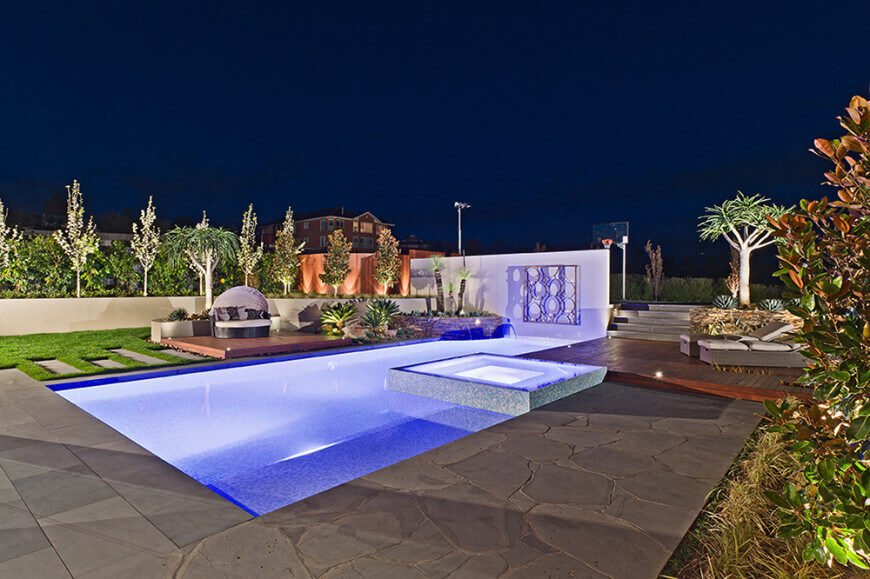 50+ In-Ground Swimming Pool Lighting Ideas And Colors