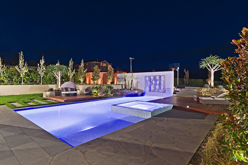 15-Natalie-Ct-COS-Designs-870x579 & 50 In-Ground Swimming Pool Lighting Ideas and Colors