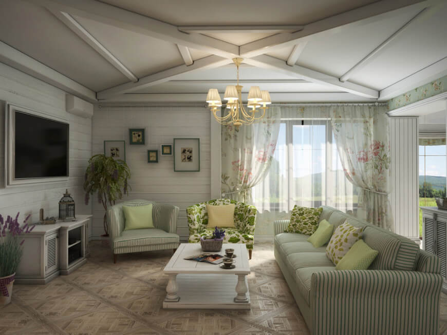101 Country Style Living Room Ideas Photos
