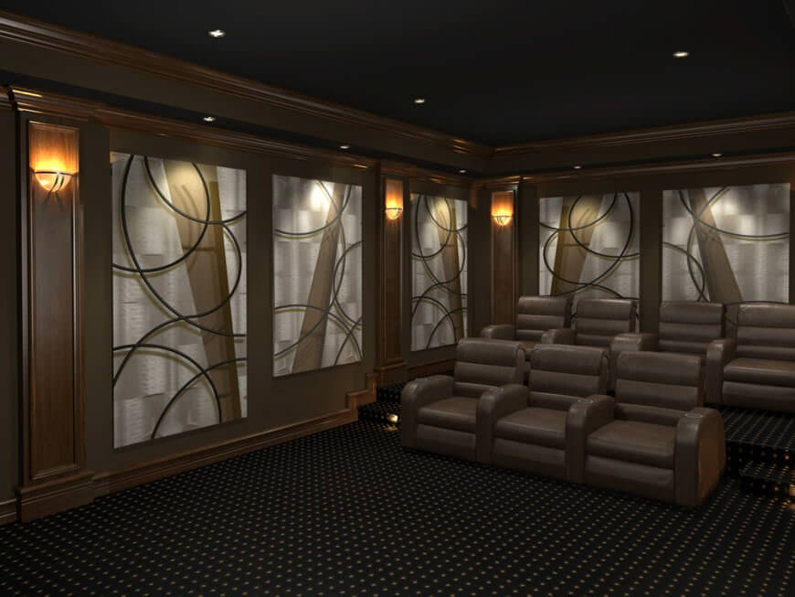 designed by 3d squared - Home Media Room Designs