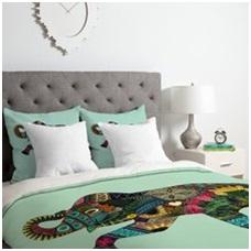 Asian bedding.
