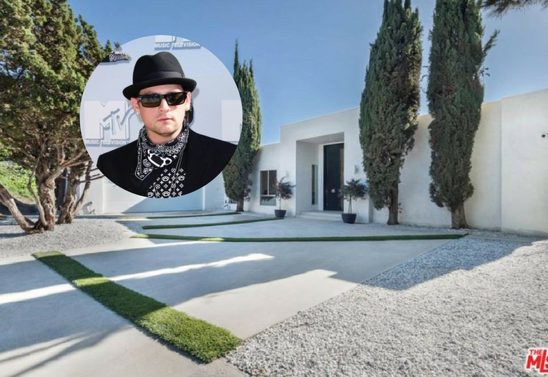 Benji Madden Midcentury Home with Pool