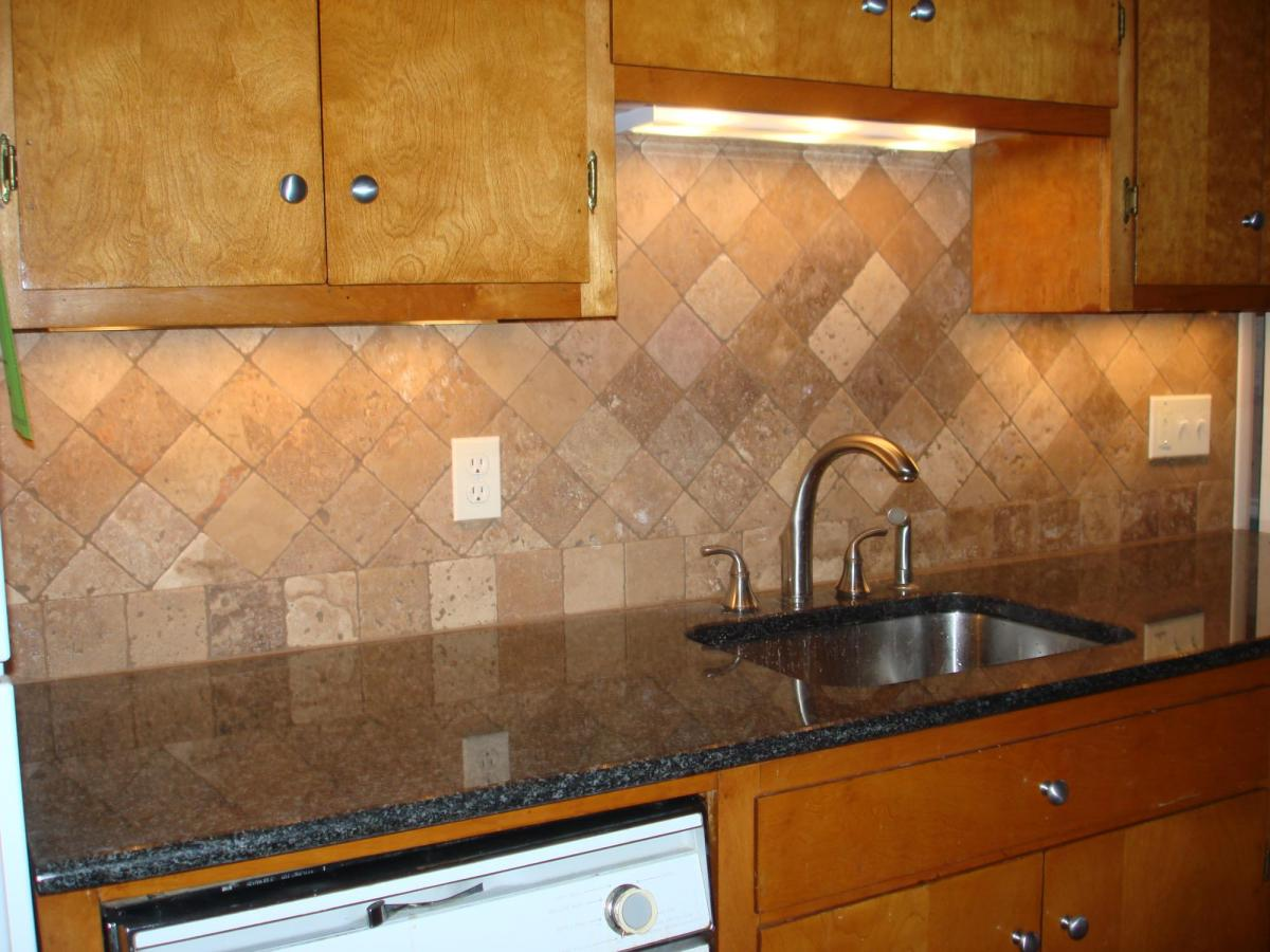Picture Of Ceramic Kitchen Backsplash.