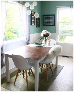 Eclectic dining nook.