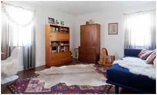 Eclectic bedroom design.