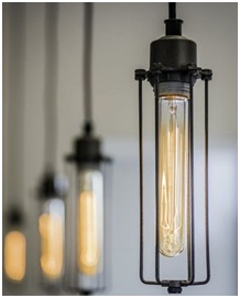 Example of industrial style lights.