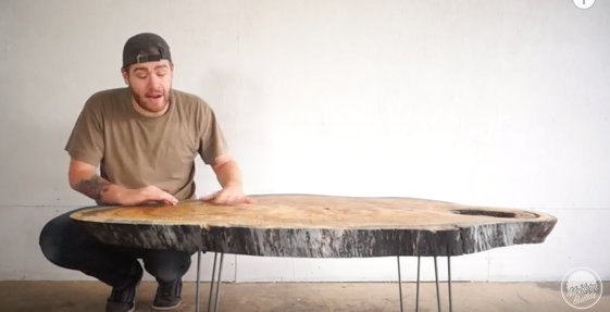 Just a Slab Of Wood Coffee Table