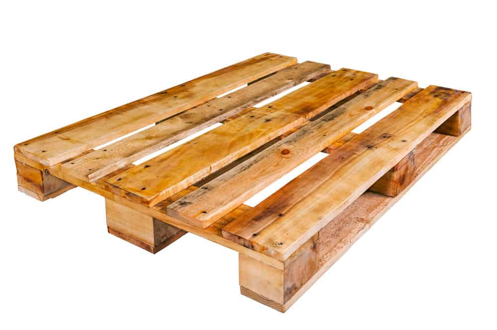 Example of a wood pallet
