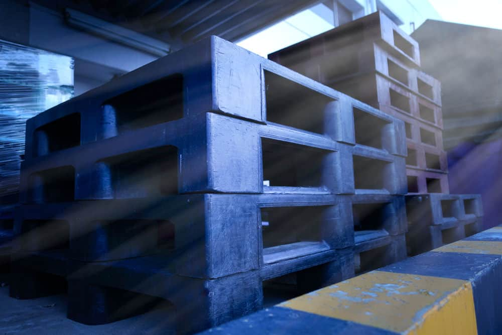 Photo example of a plastic pallet