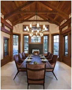 Rustic dining room home decor