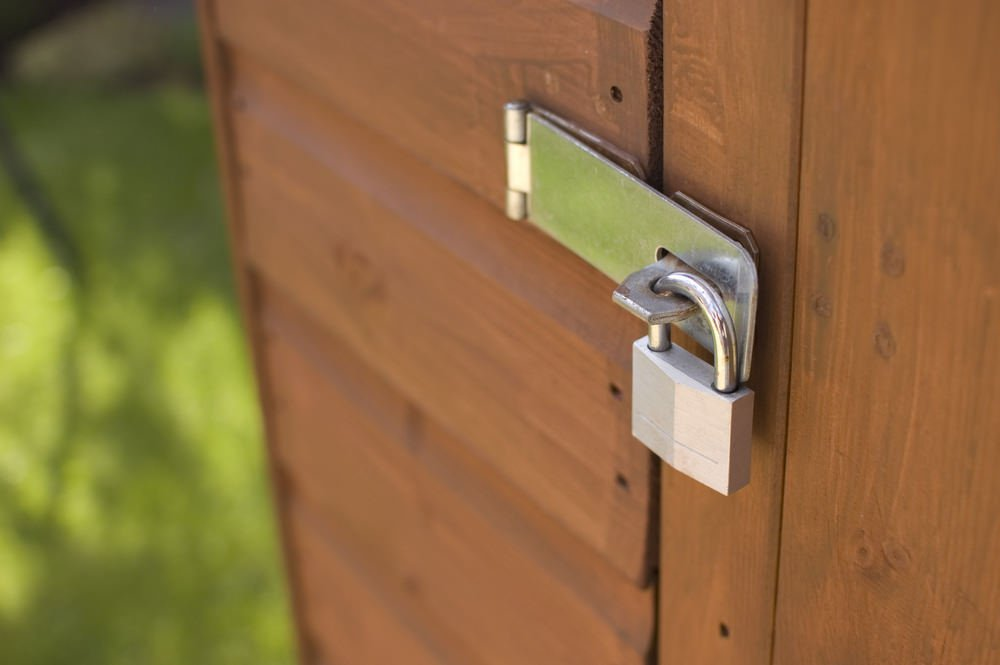 Shed with lock