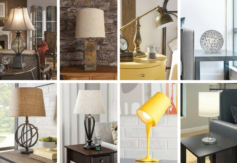 Table lamp photo collage