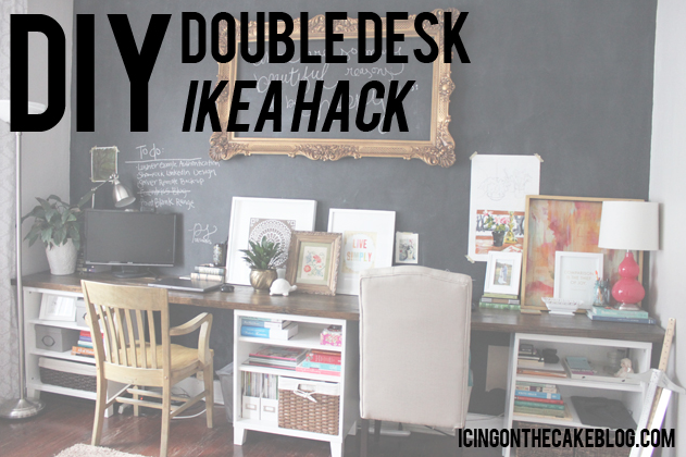 The Double Desk IKEA Hack