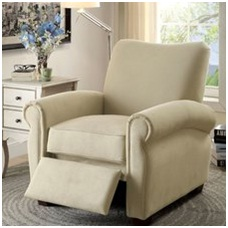 Example of transitional style reclining chair