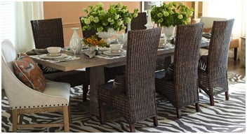 Transitional Dining Room Decor Example