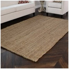 Beach interior design style floor mat.