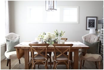 Photo example of farmhouse style dining room.