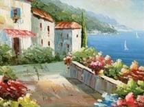 Mediterranean style art example.