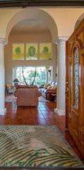 Tropical home decor foyer