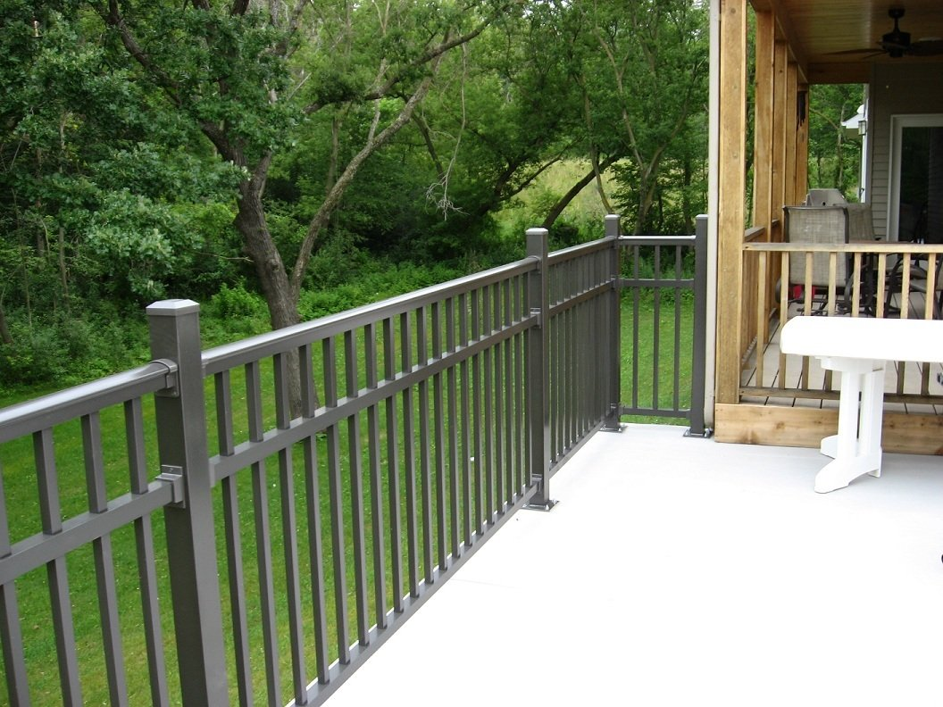 Types of deck railing design ideas