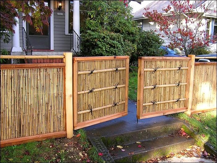 bamboo fence gate image