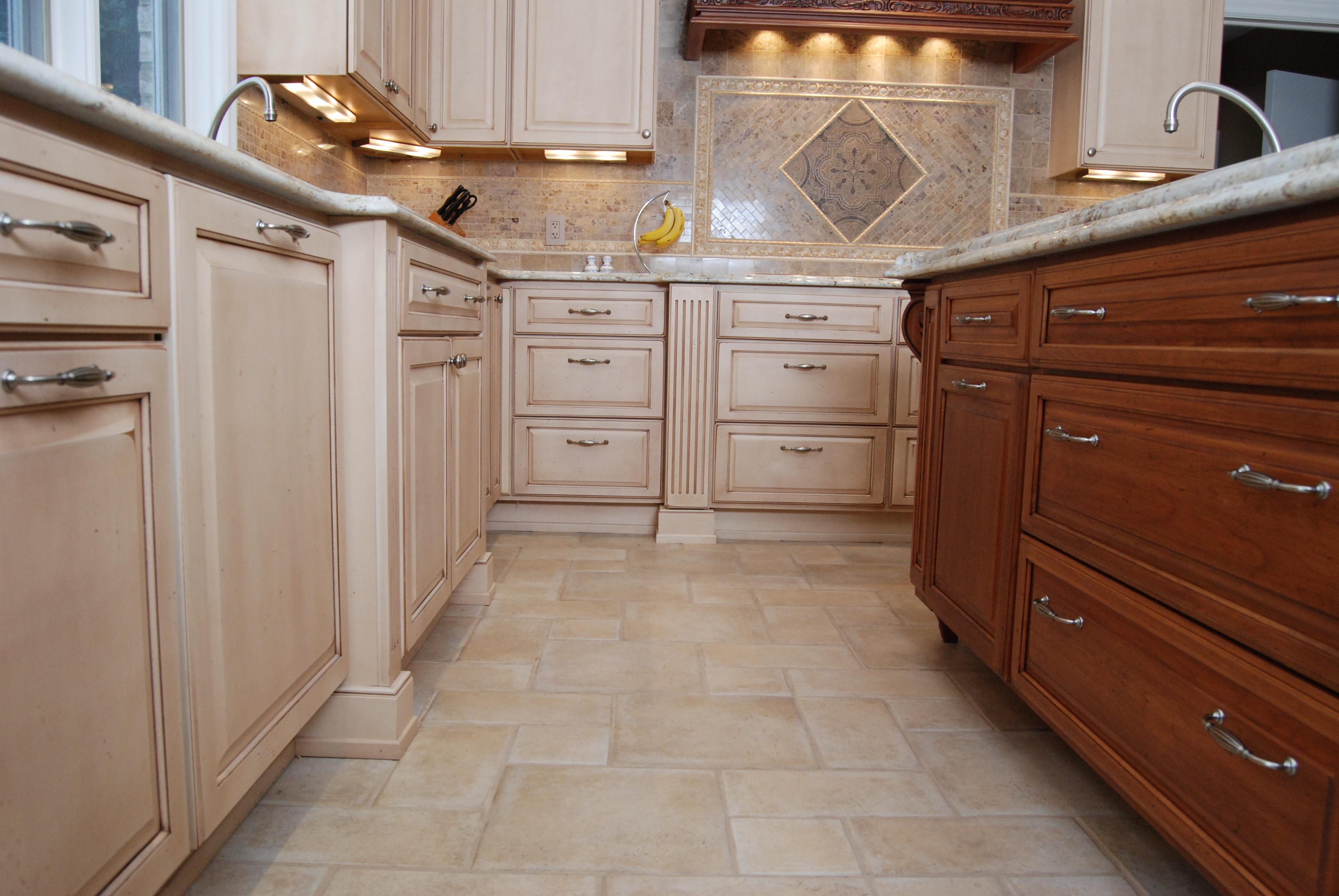 beige color kitchen floor image