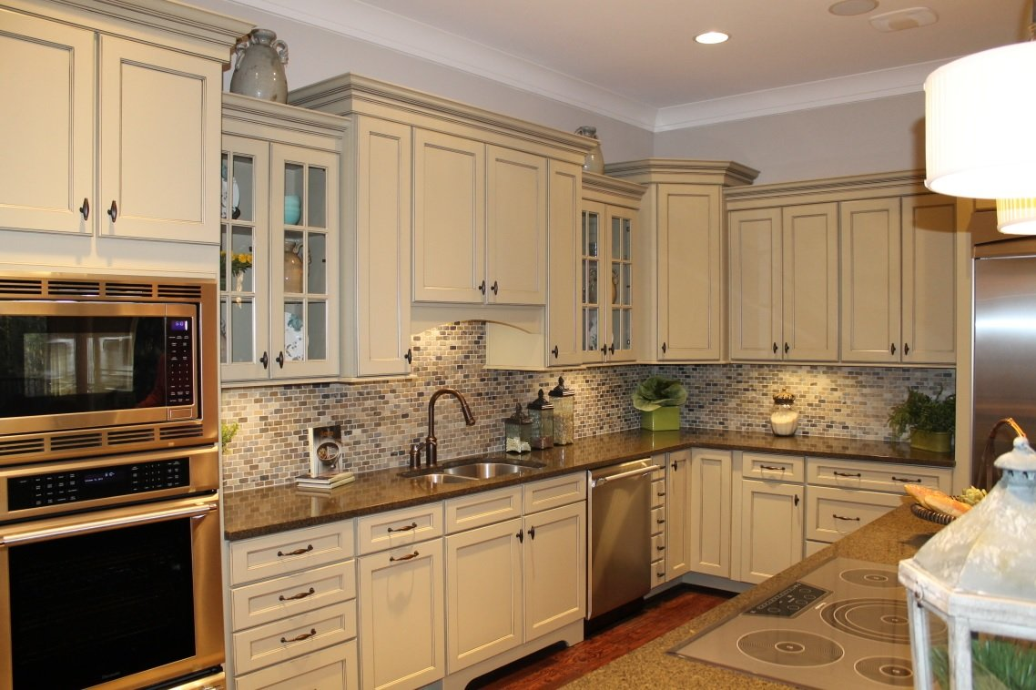 Beige kitchen cabinet image