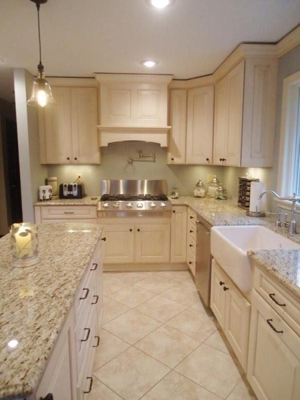 Beige kitchen color image