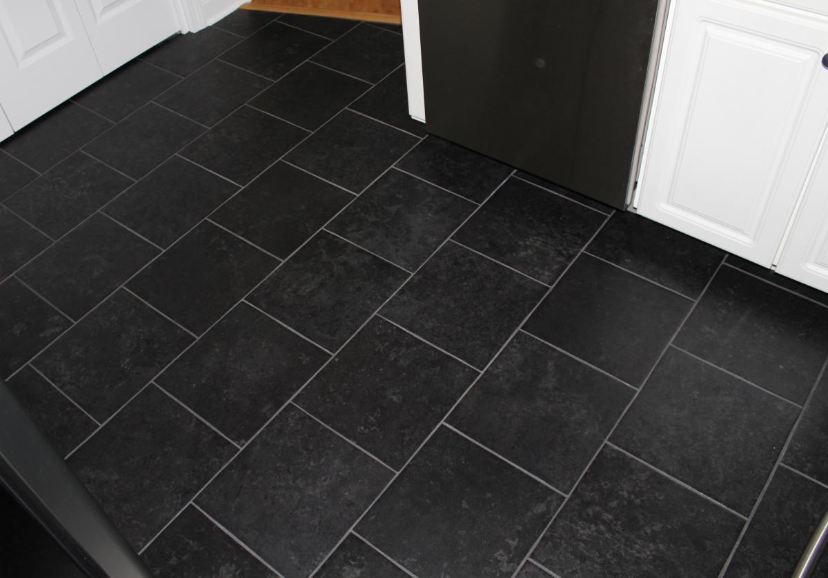 black color kitchen floor image