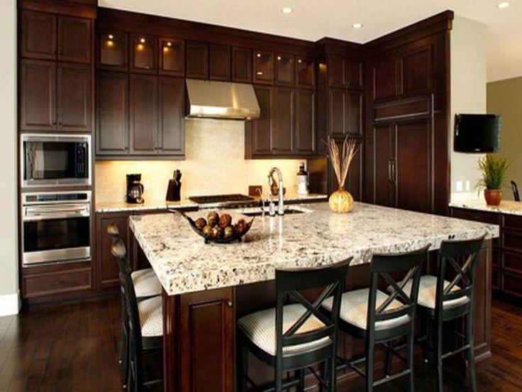 Brown kitchen color image