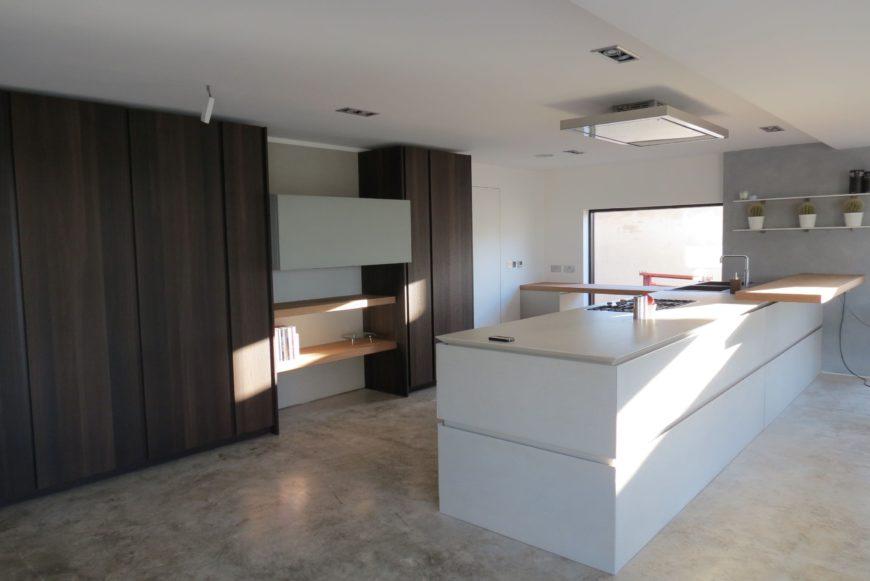 concrete kitchen floor image