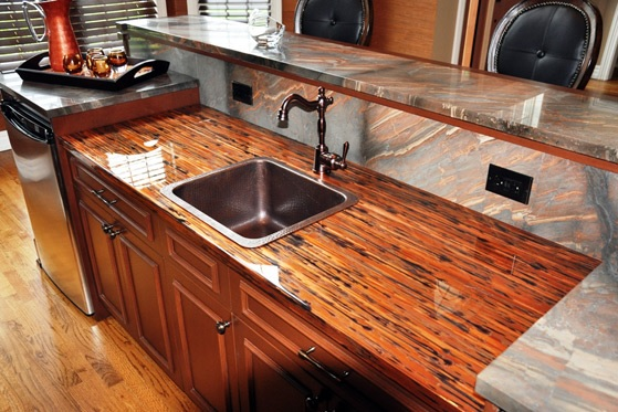 Copper countertop image