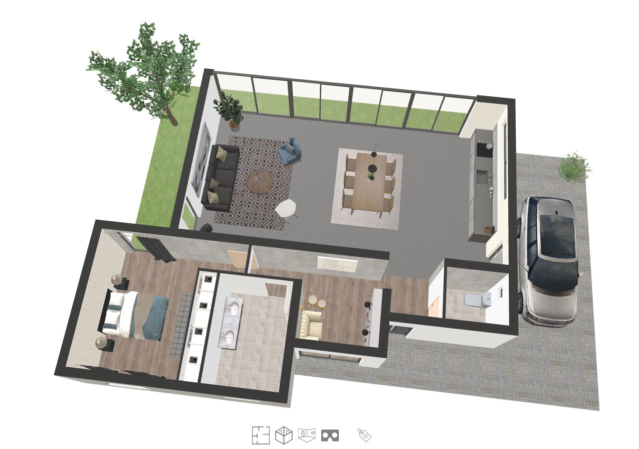 About space designer 3d software with 3d design examples for Easy house design software