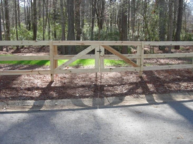 farm style fence gate image