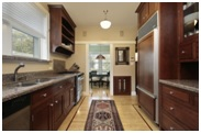 galley shape kitchen layout image