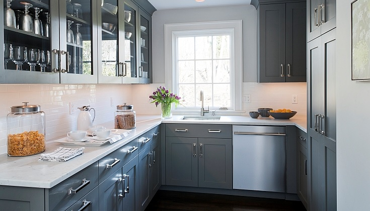 Gray kitchen color image