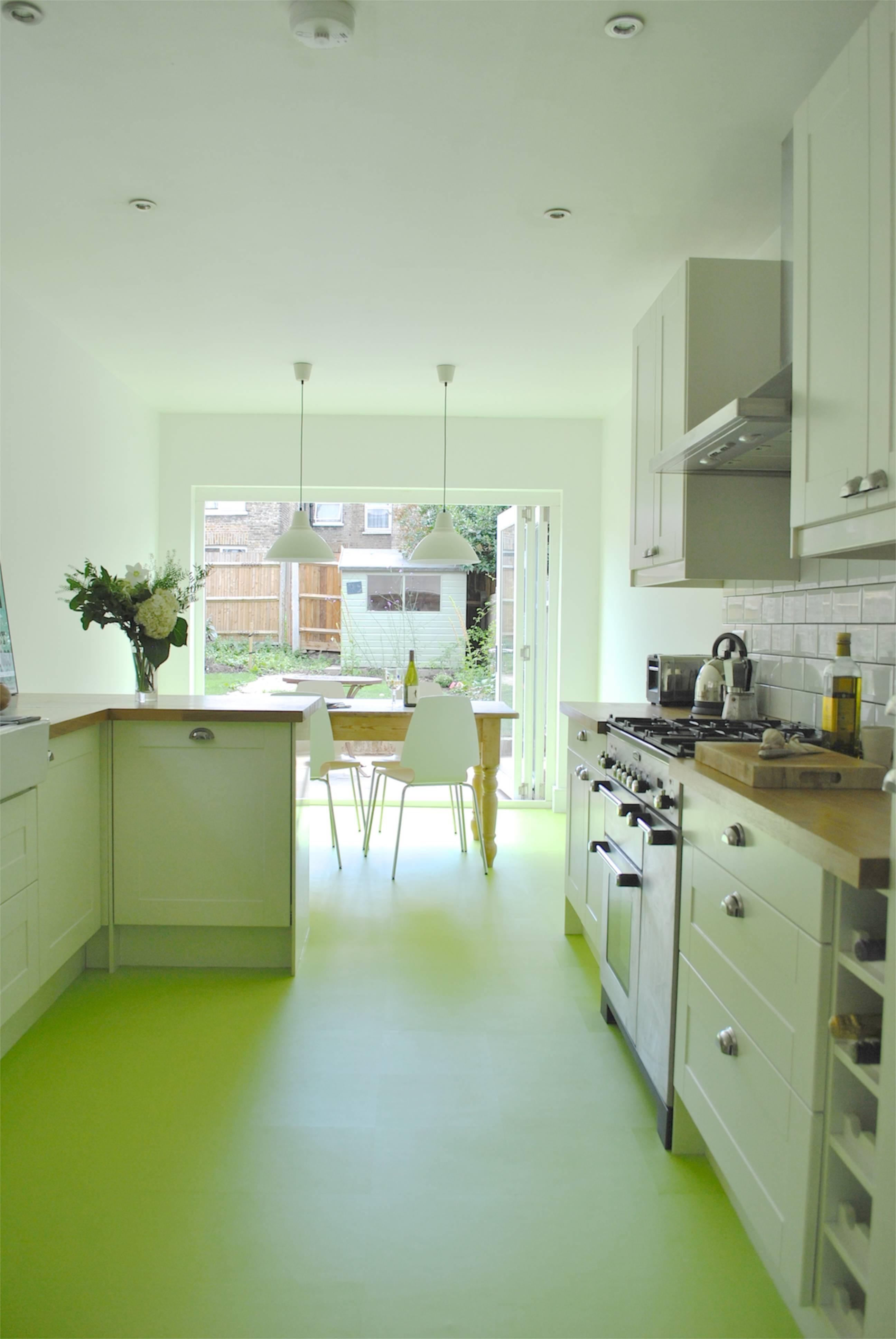 green color kitchen floor image