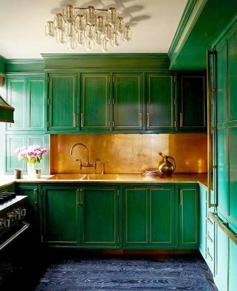 Green kitchen color image