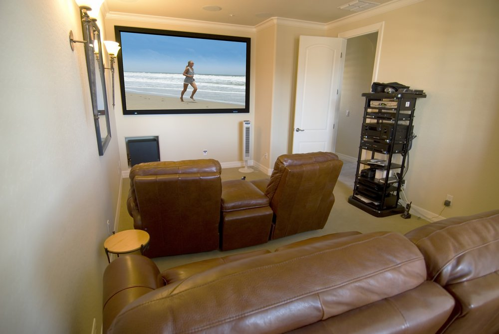 Example Of A Small Diy Home Theater