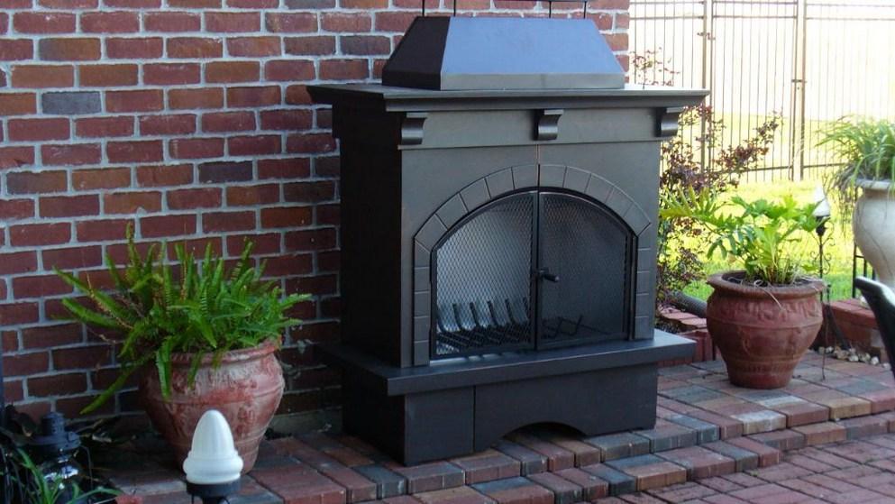 Outdoor Fireplace home depot outdoor fireplace : Outdoor fireplace metal - magiel.info